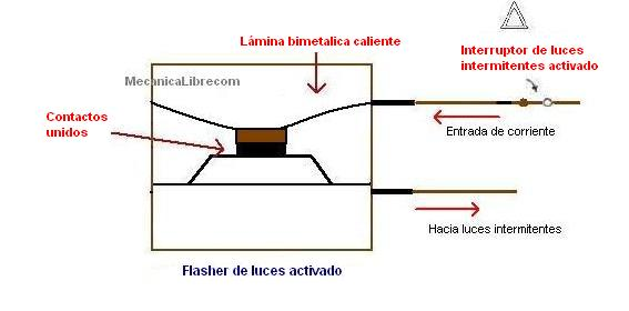 lamina caliente flasher de luces intermitentes diagrama interno